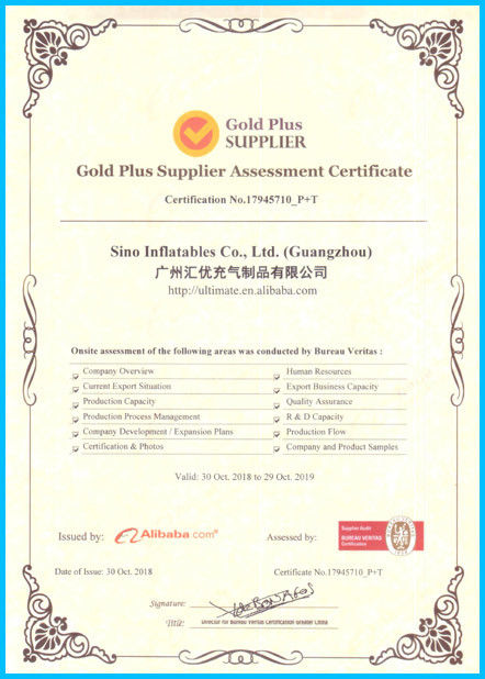 China Sino Inflatables Co., Ltd. (Guangzhou) Certificações
